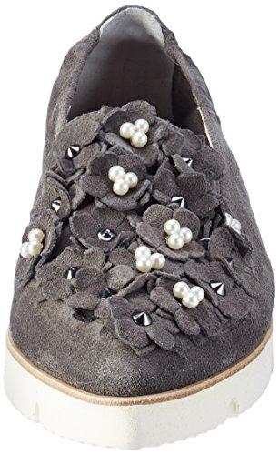 Manufactura De Zapatos Kennel Y Schmenger Pia X, Bailarinas Punta Chiusa Donna Grey (antracite / Pearl Unique White)