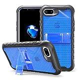 MILAN NICE Hülle für Apple iPhone 6 Plus/iPhone 6S Plus Stoßfeste Handyhülle Ultradünne Schutzhülle Transparente TPU+PC Silkonhülle mit Ständer Fußball Serie Blau