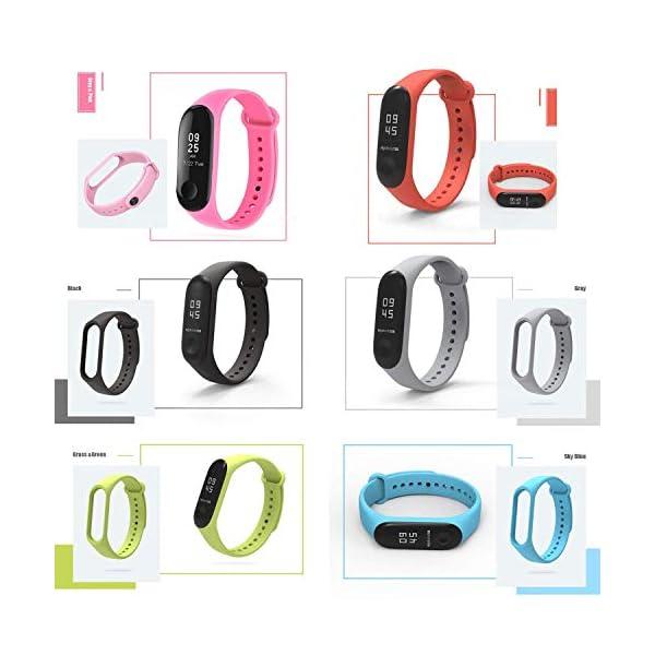 Madozon 13 Piezas Correas para Xiaomi Mi Band 3 /Mi Band 4 Pulsera Reloj Silicona Banda para Mijia Mi Band 4-13 Colores 7