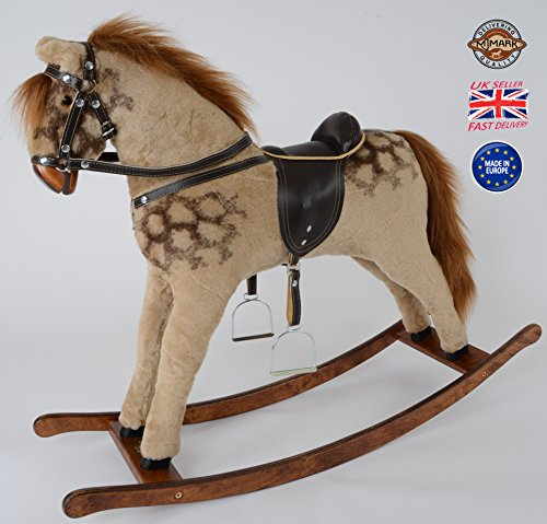 MJmark STRAWBERRY ROAN Handmade Rocking Horse Titan PINTO from