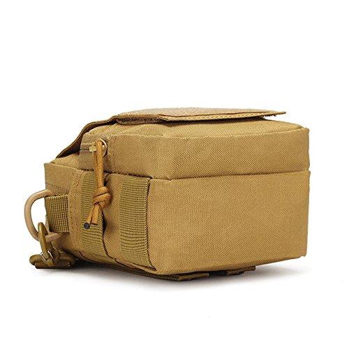 Z&N Outdoor-Sport kleine Schultertasche Tarnung Taschen lässig Wandern Reisen Umhängetasche kleiner Rucksack Taktik E