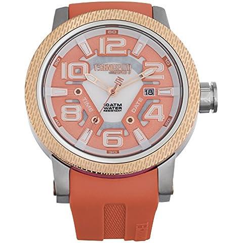 TS-Technosport 6-3000-9 Coral in Silicone per orologio, in acciaio INOX, lunetta e corallo Orologio da donna