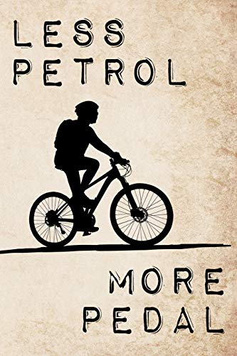 Less Petrol - More Pedal: Ecological inspired bicycle art journal for eco bike lovers