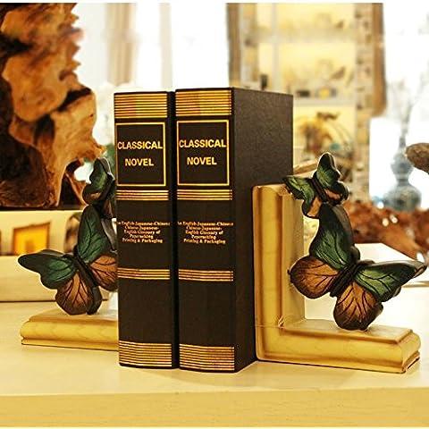 Rubility® Sujetalibros con forma mariposa Accesorios de escritorio productos de almacenamiento