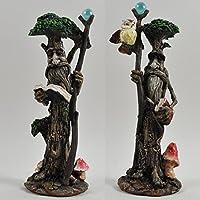 Tall tree Ent par con libros & Scrolls Greenman–Escultura decorativa de jardín Mito H20cm