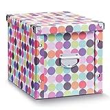 Aufbewahrungsbox Pappe XL Color Dots 17894 Aufbewahrungskiste