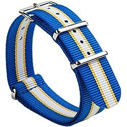 Gemony Nato Strap Premium Ballisitcs Nylon Watch Band NBA fan strap Available 18mm/20mm/22mm