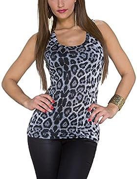 Tank Top con leopardo.