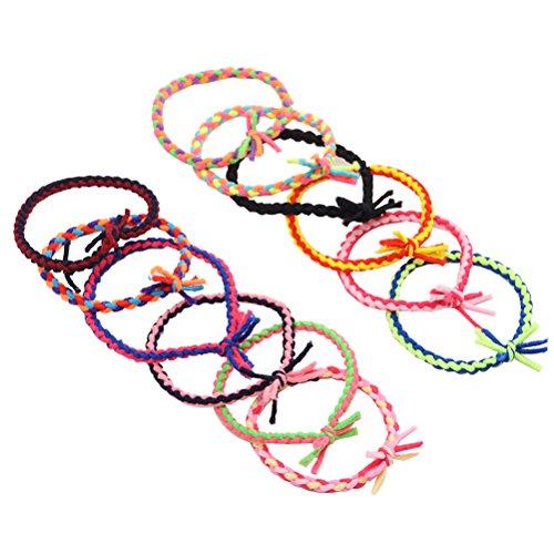 Frcolor Elastische Haargummi 12Pcs bunt Haar Bänder Haarfrisuren Zubehör für Damen Mädchen (Zufällige Farbe) (Krawatte Schwimmer)