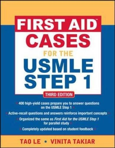 First aid cases for the USMLE step 1 (Medicina)