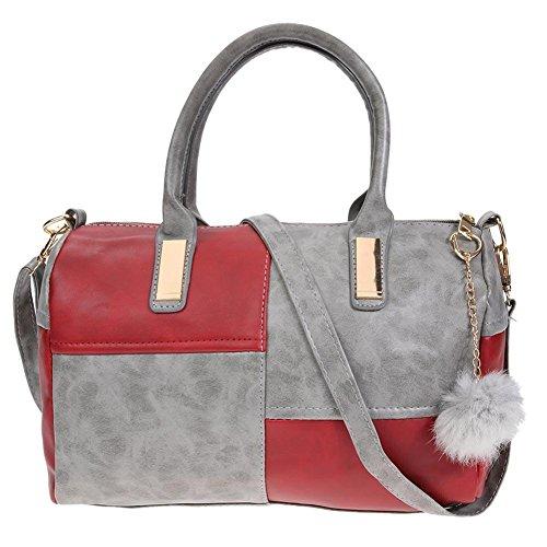 La Cabina Mixte Contraste Sac à Bandoulière Femmes Sac d'épaule Cross Body Bag Sac à Main Classiqu
