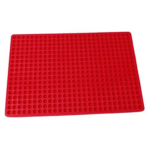 Chinget Rote Silikon Backmatte Schrubben Runde Hitzebeständige Antihaft-Kochmatte BPA-frei