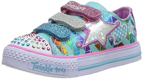 Skechers ShufflesClassy Sassy, Mädchen Sneakers, Blau (AQMT), 34 EU