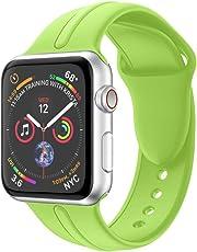 BZLine Armband | Weiches Silikon Ersatz Uhrenarmband | Für Apple Watch Series 4 40mm/44mm Hautfreundlich | Handgelenkgröße: 5,51-7,28 Zoll | Bandlänge: 96 mm + 117 mm | 14 Farben