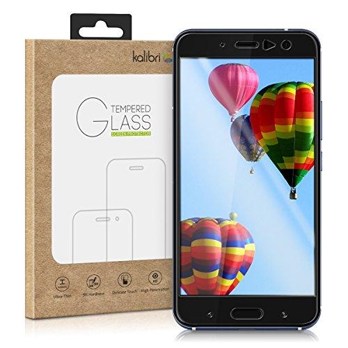 kalibri-Echtglas-Displayschutz-fr-HTC-U11-3D-Schutzglas-Full-Cover-Screen-Protector-mit-Rahmen-in-Schwarz