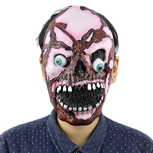 FLTVSN Halloween-Maske Horror Latex Critical Eyes Maske Super Spooky Maske Halloween Zombie Scary MaskeFull Head Face Creepy Scary Maske für Erwachsene Requisiten