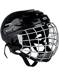 Casco de hockey sobre hielo kayro Worker Negro con rejilla de protección de la cara, large