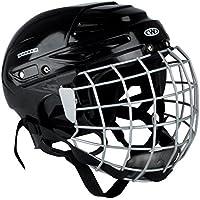 Eishockey Helm Kayro Worker schwarz mit Gesichtsschutz Gitter
