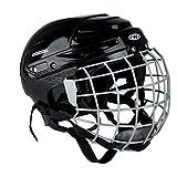Eishockey Helm Kayro mit Gesichtschutz Gitter schwarz black vom Worker (L)