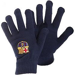 FCB FC Barcelona - Guantes oficiales Modelo Escudo Core hombre caballero - Invierno fútbol (Talla Única/Azul marino)