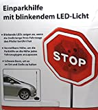 LED Einparkhilfe Stop Schild mit blinkenden LEDs und einstellbarer Höhe mit stabilem Standfuß