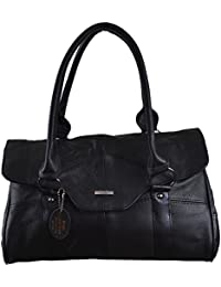 Ladies Leather Shoulder Bag / Handbag with Folder Over Flap and Magentic Clasp. ( Black / Dark Brown / Fawn / Tan )