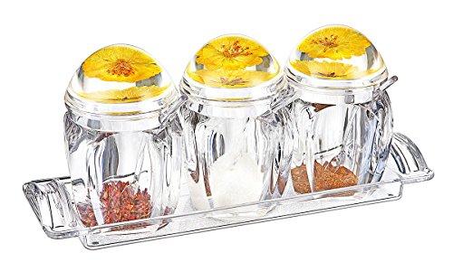 FOLOBE Premium Qualität Klar Acryl Gewürz Gewürz Gewürz Salz Pfefferstreuer Gewürzdosen Küche Zubehör