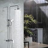 Set doccia Set completo di appendere a parete di rame Rubinetto pressurizzato, tre schizzi d'acqua