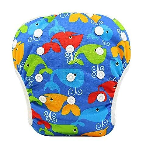 Ohbabyka bébé réutilisable lavable pour bain couche pour piscine, taille