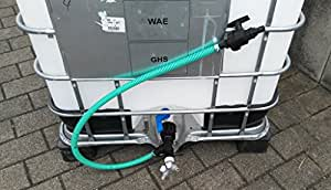 *CME809382Y879119879487 mit Kugelhahn, Schlauch, Schellen, Schlauchtüllen, Y-Verteiler, Doppelnippel, T-Stück, Reduktion + Schraubkappe S60x6 Grobgewinde, IBC-Container-Zubehör-Regenwasser-Tank-Adapter-Fitting-Kanister-Fass-Wasser-Kanne