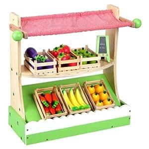 SUN Marktstand komplett mit 6 Kisten Obst und Gemüse