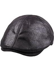 sujii iCAB Flat Cap tapa plana Newsboy Beret boina Cabbie Hat sombrero de cabbie Hunting Cap sombrero de caza gorra de golf tapa del conductor