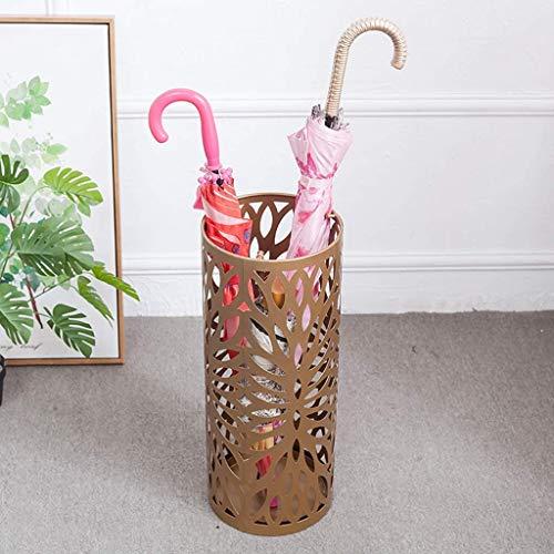 Knoijijuo Paragüero con Ganchos y Bandeja de Goteo, para Bastones -50cm × 20CM paragüero,Oro