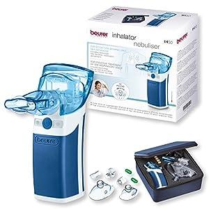 Beurer IH 50 Inhalator mit Schwingmembran-Technologie, Medizinprodukt mit umfangreichem Zubehör, 7,2 x 5,9 x 13,4 cm