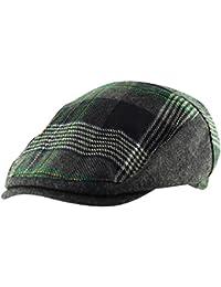 f6a0ef6853c Men s Flat Cap Hat Herringbone Tweed Country Check Wool Mix Adjustable Newsboy  Gatsby Golf