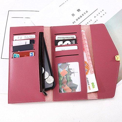 Portafoglio Donna, Tpulling Portafogli donna Portafoglio grande capacità carta tenere borse lunghe (Blue) Red