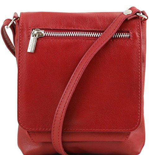 Tuscany Leather Sasha Borsello unisex in pelle morbida Borse uomo in pelle Rosso