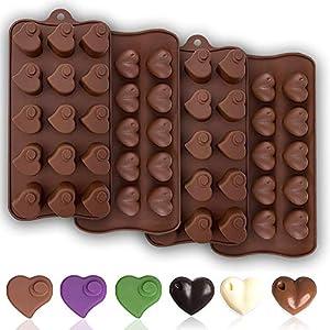 JAHEMU Moldes de Silicona Chocolate