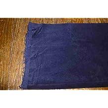 Azul oscuro terciopelo de algodón costura Tela: por metro