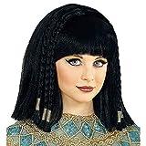 WIDMANN 46931 Kinderperücke Cleopatra Mädchen Schwarz
