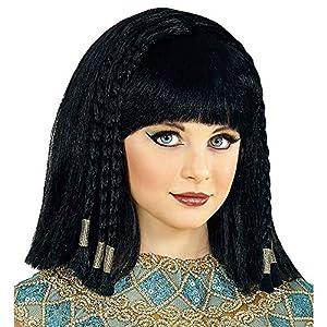 WIDMANN 46931peluca Cleopatra, niña, Negro