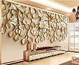WH-PORP 3D Papier peint Grand papier peint fait sur commande de papier peint 3D de fond de relief de TV de relief de résine parfumante parfumée-300cmX210cm