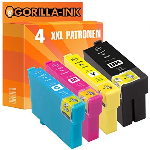 epson nachfuellpatronen Gorilla Ink 4 Druckerpatronen XXL GI34XL für Epson Workforce Pro WF-3720 Series WF-3725 DWF WF-3720 DWF WF-3720 DW