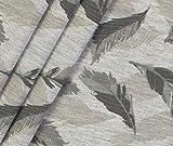0,5m Jersey Federn - hellgrau meliert ÖkoTex