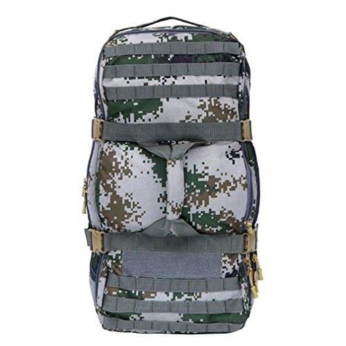 F@75L litro all'aperto nylon impermeabile escursionismo trekking zaino, borse, zaino Campeggio tattico Camo Borsa, Digital Camo Campeggio , black city number