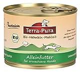 Bio-Hähnleinmahlzeit für Hunde 200g Dose x 24 Terra Pura
