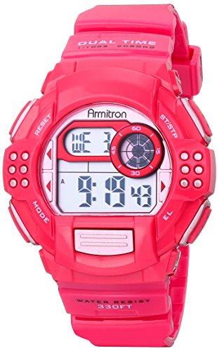 armitron-da-donna-45-7044mag-lavanda-accented-digitale-cronografo-magenta-cinturino-in-resina