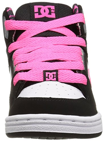 DC REBOUND SE YOUTH SHOE D0303310B, Sneaker Ragazzo Black/White/Pink