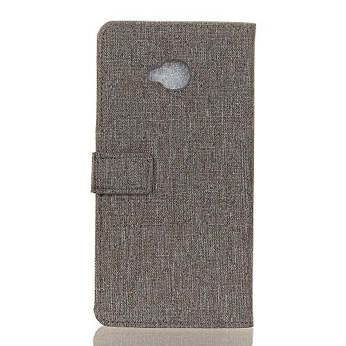 Solid Color Tuch Weaving Texture PU Ledertasche Cover Horizontale Flip Stand Case mit Kickstand & Card Slots für Asus Zenfone ZD552KL ( Color : Red ) Gray