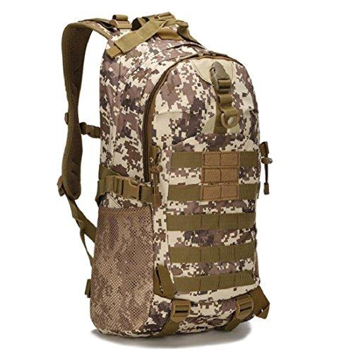 LF&F Backpack Camping outdoor Zaini Borse A piedi e arrampicata all'aperto svago indossare impermeabile comodo schiena respiratorio tattica Oxford tattiche 25L doppio zaino spalla A 25L G
